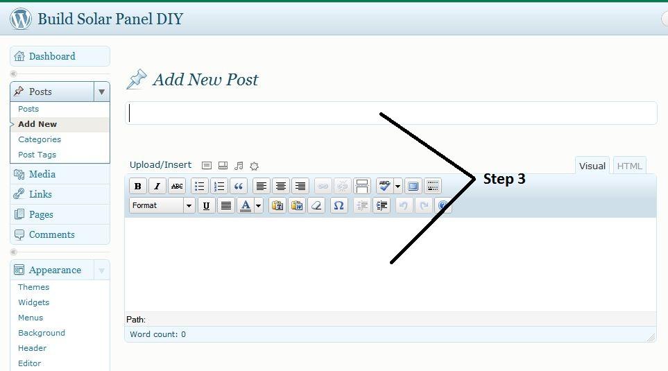 add post wordpress